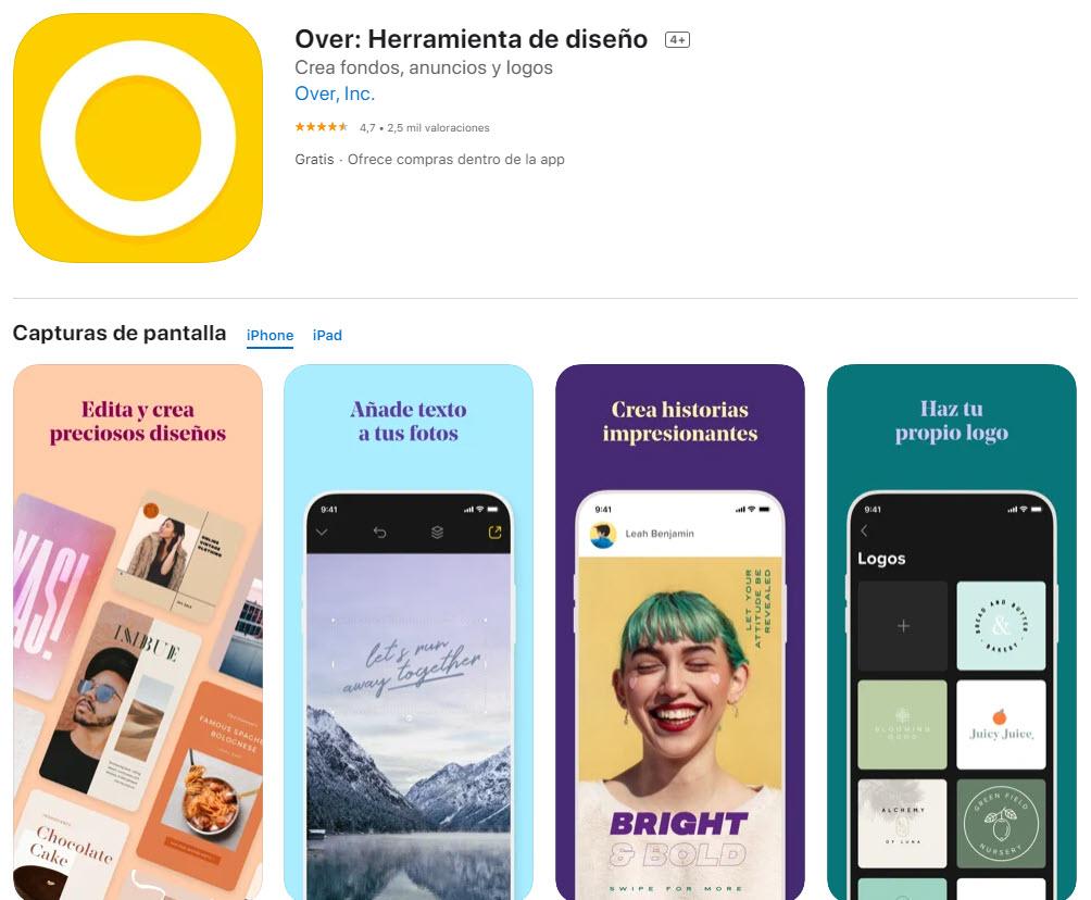 Over: la mejor aplicación para añadir textos a fotos