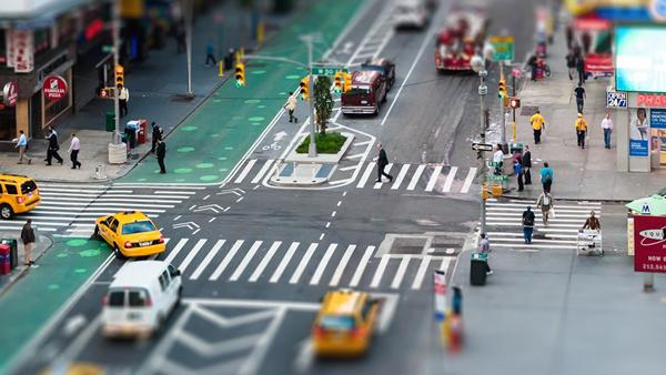 macro photography miniature titl shift city