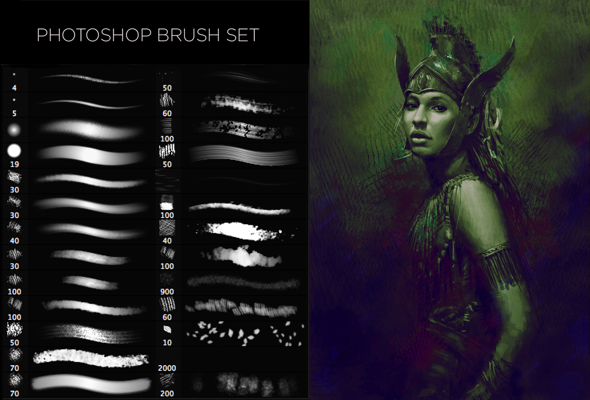 set de brushes ideales para concept art