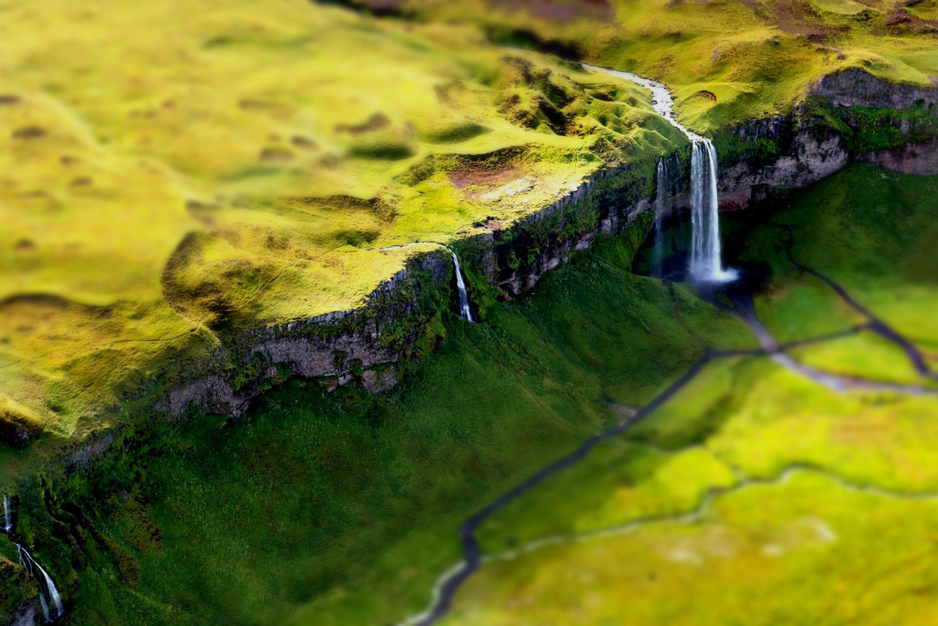 tilt shift mountains landscapes