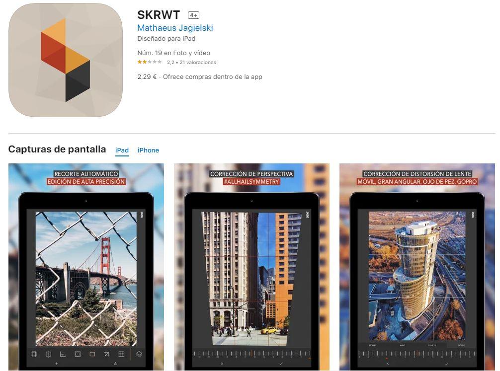 SKRWT: la mejor aplicación para editar la perspectiva de las fotos