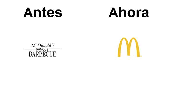antes y después del logo de MacDonalds