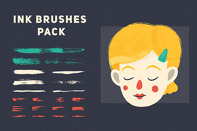 pinceles de tinta para tus ilustraciones
