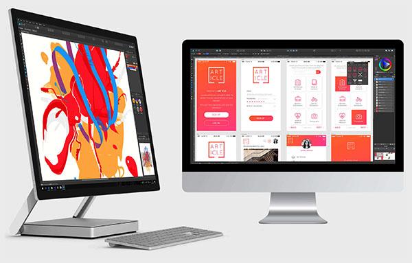la plataforma de Affinity Designer