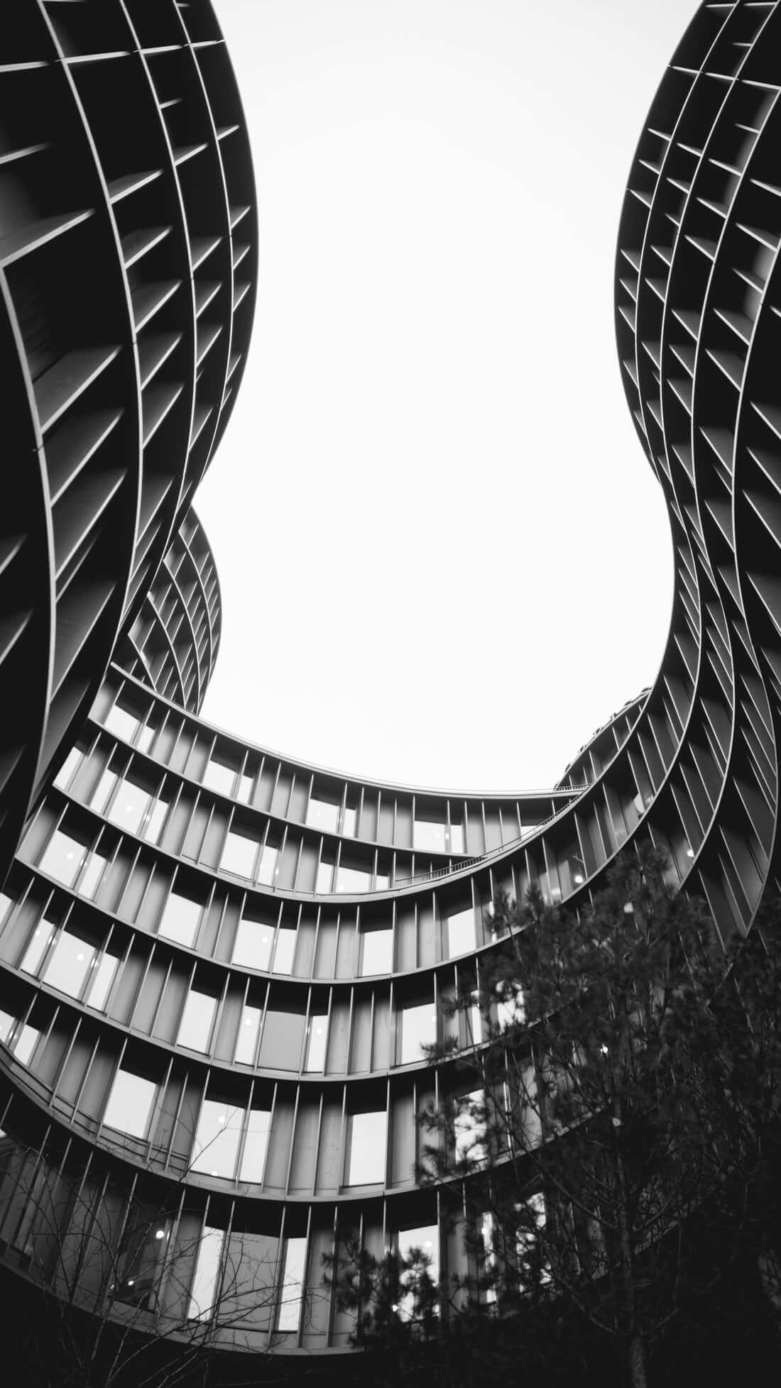 black-white-building
