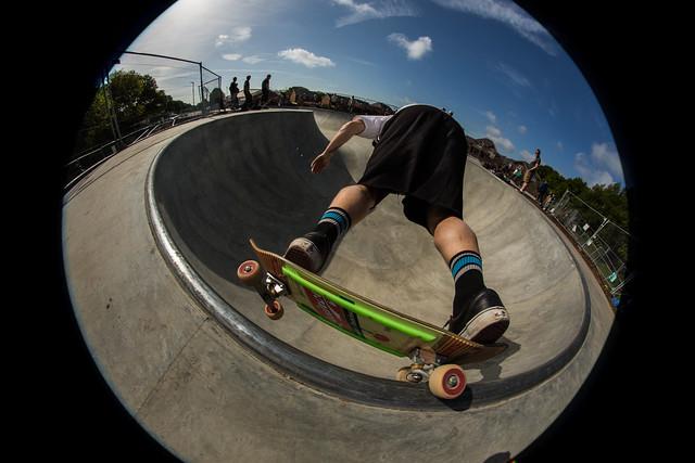 fish-eye-photography-skateboarder-skating