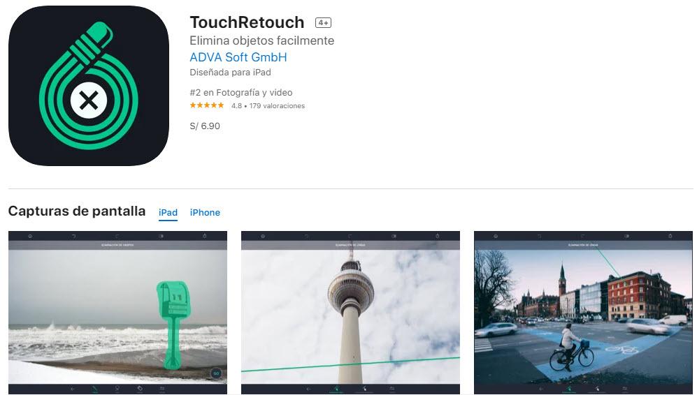 TouchRetouch: la mejor app para eliminar objetos de las fotos