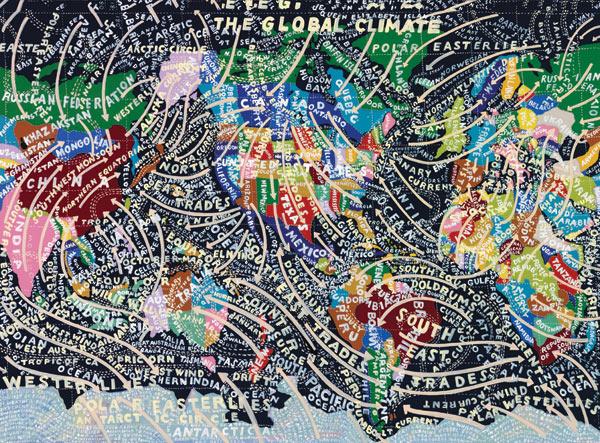 ilustracion de maps por paula scher