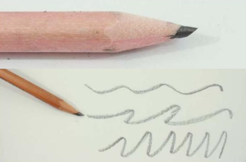 técnica de dibujo a lápiz trazo ancho