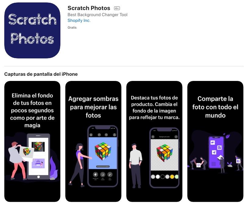 Scratch Photos: la mejor app para eliminar y editar fondos