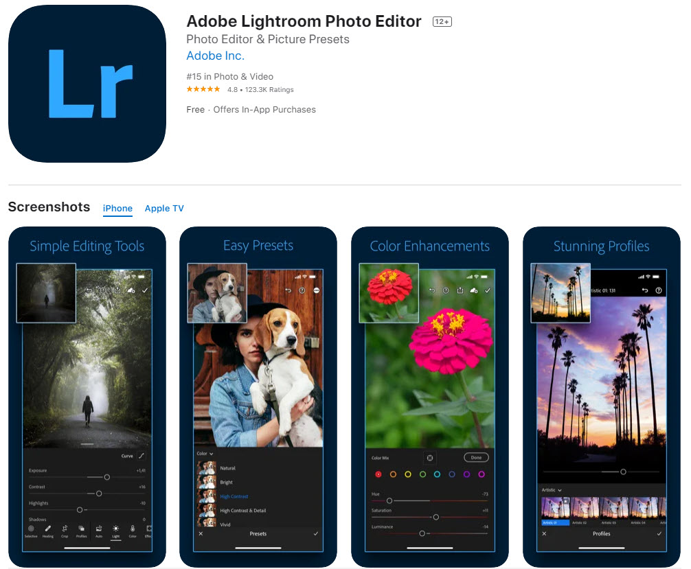 Adobe Photoshop Lightroom: la mejor app para editar fotos profesionalmente