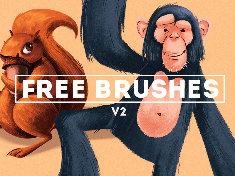 brushes para pintar en psd tipo cartoon