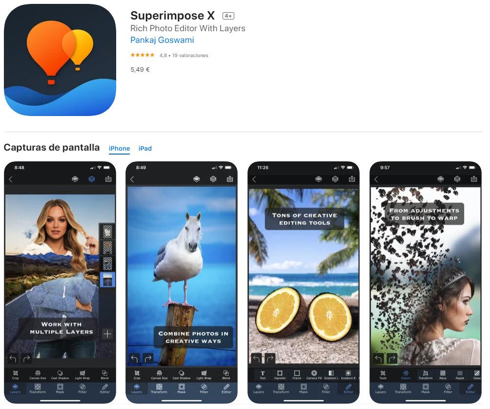 Superimpose X: la mejor app para crear fotos de doble exposición