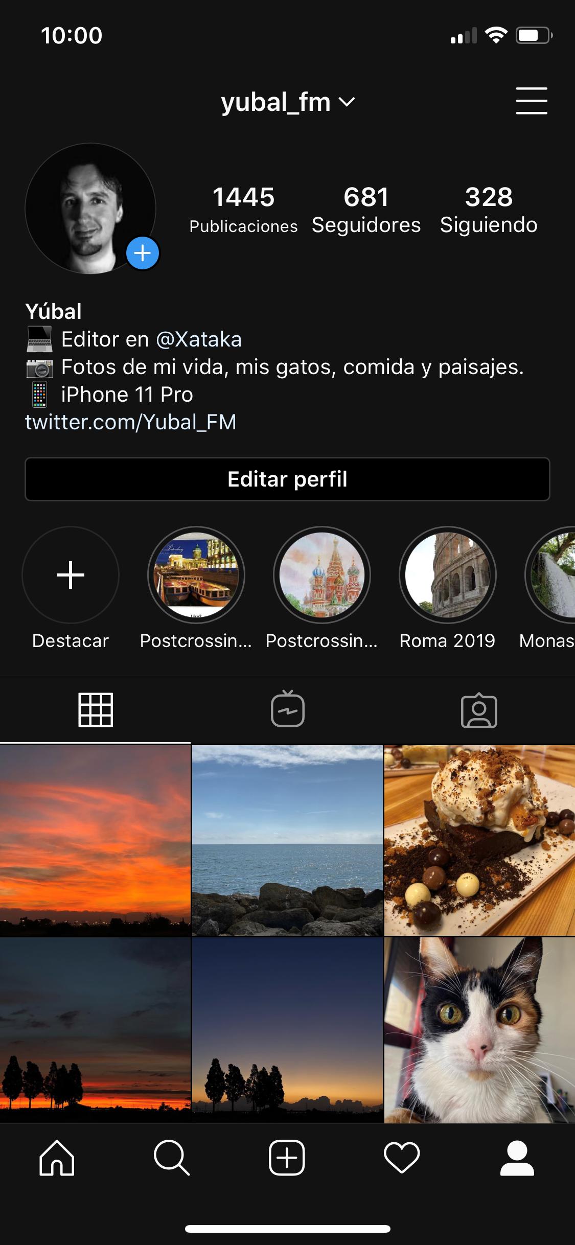 Profilo utente dell'utente Instagram