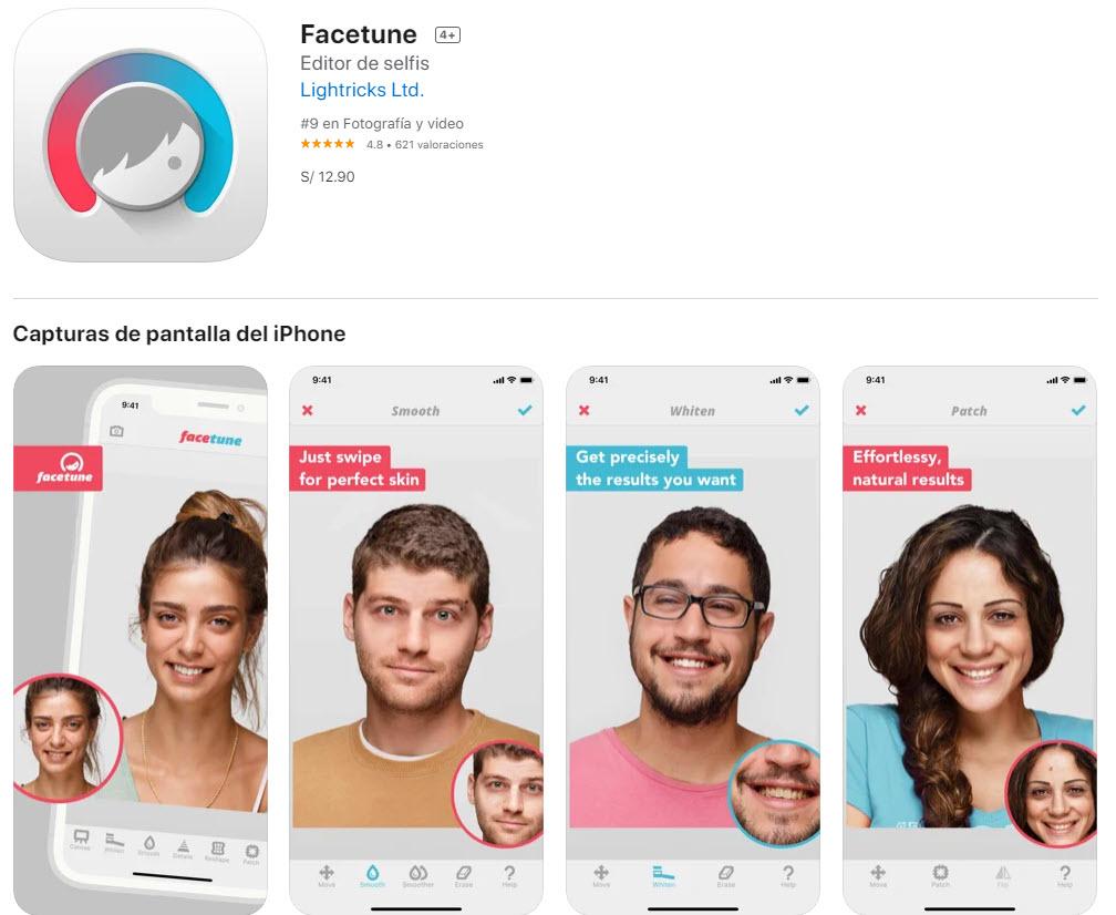 Facetune: la mejor app para editar selfies profesionalmente