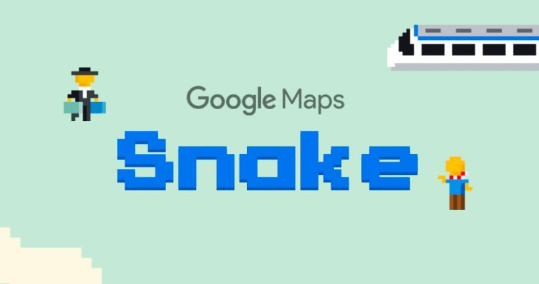 snake juego google maps