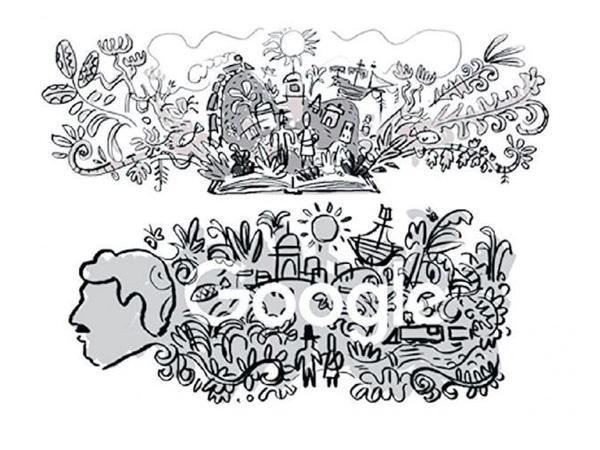 bocetos del doodle de garcía márquez