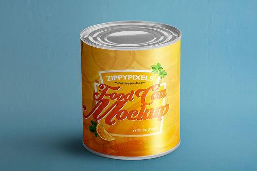 mockup de lata de comida