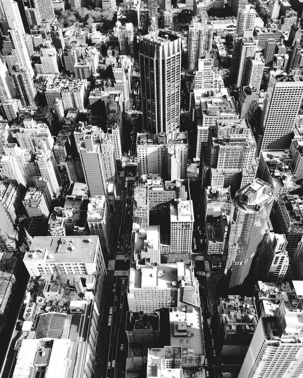 black-white-city-photo