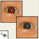 herramienta pincel ojos rojos photoshop