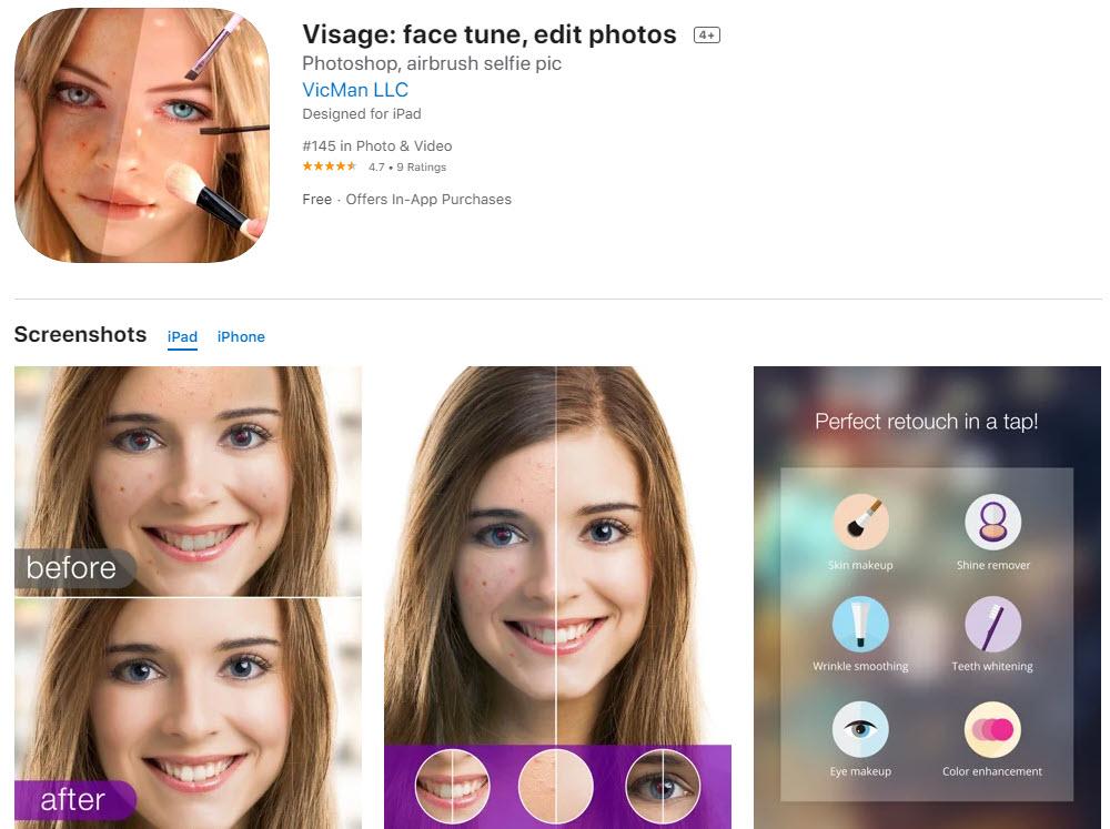Visage Lab: la mejor aplicación para editar selfies