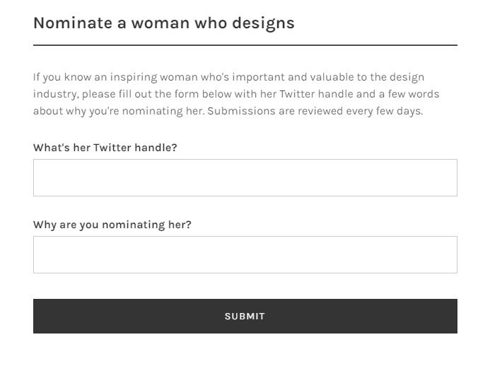 nominar en women who design