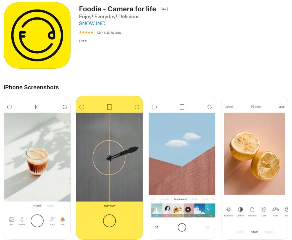 Foodie: la mejor app para editar fotos de comida