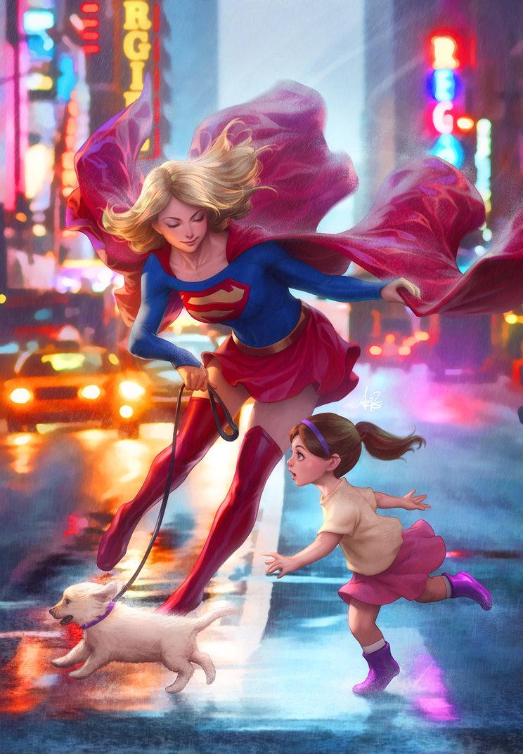 supergirl por artgerm