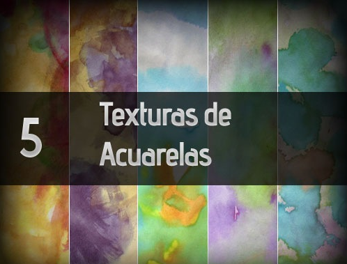 5 texturas de acuarelas