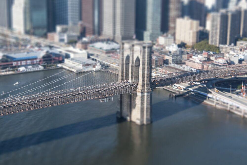 photography bridge city tilt shift