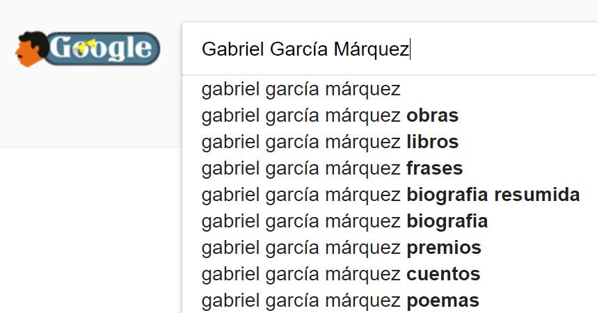Doodle de García Márquez en el buscador de Google